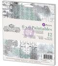 Prima Marketing Salvage District 6\u0027\u0027x6\u0027\u0027 Paintables Watercolor Paper Pad