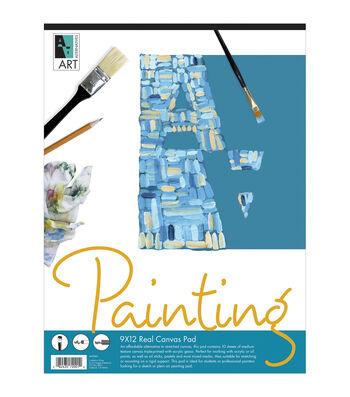 "Art Alternatives Canvas Pad 9""X12""-10 sheets"