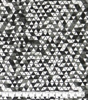 Wide Flannel Fabric-Black & White Triangles