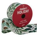 Maker\u0027s Holiday Christmas Ribbon 2.5\u0027\u0027x25\u0027-Pine Botanicals on White