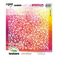 Carabelle Studio Art Printing Square Rubber Texture Plate-Stained Glass