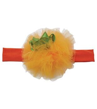 Maker's Halloween Infant Mini Pumpkin Headband-Orange & Green