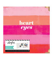 "Heidi Swapp Storyline 3 D-Ring Album 8.5""X11""-Heart Eyes, , hi-res"