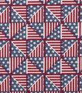 Patriotic Cotton Fabric -Pinwheel Flags