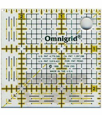 """Omnigrid Quilting Grid Ruler 2.5""""X2.5"""""""