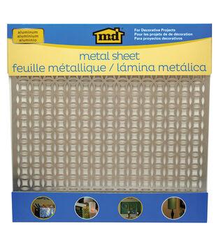 "Silver Colored Metal Sheet 12""X12""-Elliptical"