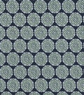 Quilter\u0027s Showcase Cotton Fabric 44\u0022-Green Navy Intricate Med