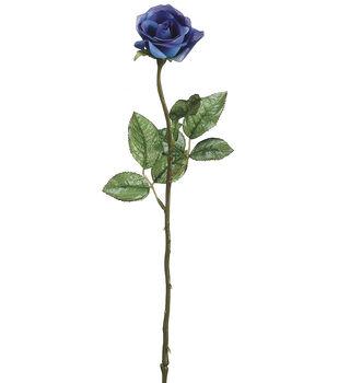 """Bloom Room 21"""" Single Rose Bud-Blue"""