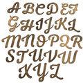 Fab Lab Craft 36 pk Uppercase Script Alphabet Letters-Rustic