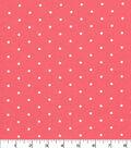 Quilter\u0027s Showcase Cotton Fabric -Sugar Aspirin Dots on Coral