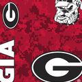 University of Georgia Bulldogs Fleece Fabric -Digital Camo
