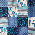 Nursery Patchwork Quilt Fabric-Gordon Whales