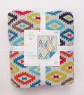 No-Sew Throw Fleece Fabric 72\u0022-Watercolor Aztec