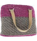 Hoooked Valencia Bag Kit with Ribbon XL Yarn-Crazy Plum