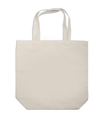 "Canvas Large Tote Bag 17""x5.25""x16.5-Natural"