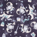 Anti-Pill Plush Fleece Fabric-Navy Knights & Dragons