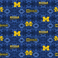 University of Michigan Wolverines Flannel Fabric-Tie Dye