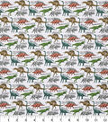Novelty Cotton Fabric-Dinosaurs With Words