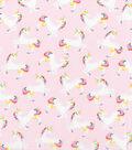 Novelty Cotton Fabric -Unicorn Pink