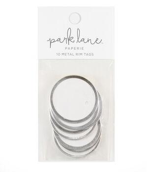 Park Lane Paperie 10 pk Metal Rim Tags-Silver & White
