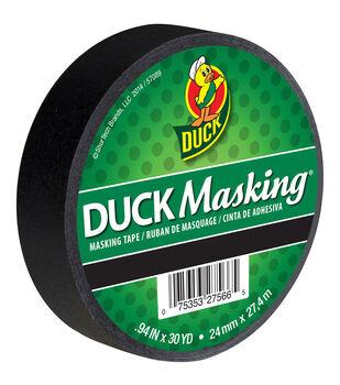 "Duck Masking Tape .94""x30yd-Black"