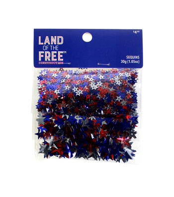 Land of the Free Sequins Variety Pack-Red, White & Blue