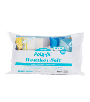 """Poly-Fil Weather Soft Indoor / Outdoor Pillow Insert 12x18"""""""