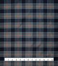 Anti-Static Lining Fabric -Navy Plaid
