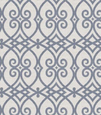 """Jaclyn Smith Upholstery Fabric 54""""-Gatework Rot/Indigo"""
