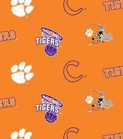 "Clemson University Tigers Fleece Fabric 58""-All Over, , hi-res"