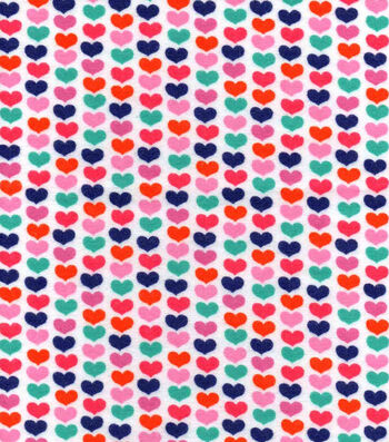 Snuggle Flannel Fabric 42''-Linear Hearts