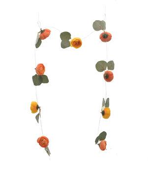 Bloom Room Artisan DIY Ranunculus Floating Garland-Orange & Yellow