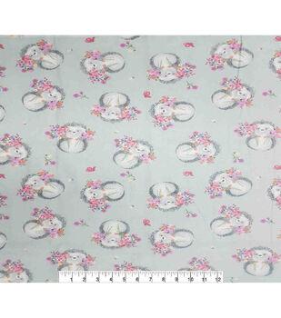 Super Snuggle Flannel Fabric-Floral Hedgehog Tossed