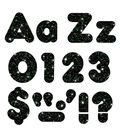 TREND Casual Uppercase/Lowercase Ready Letters Combo Pack-Black Sparkle