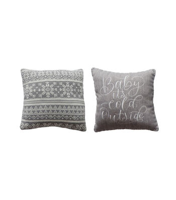 Maker's Holiday Christmas 2 pk Pillows-Baby It's Cold Outside