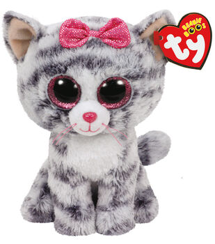 Ty Beanie Boos Regular Grey Cat-Kiki