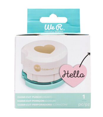 We R Memory Keepers 2'' Clear Cut Punch-Heart