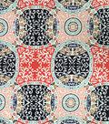 Doodles Collection Fabric -  Majestic Interlock Large Medallion Multi