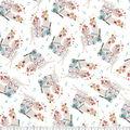 Premium Prints Cotton Fabric-Tossed Musical Note & Llamas