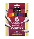 Sargent Art Washable Markers, Broad Tip - 8 per pack, 12 packs