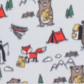 Blizzard Fleece Fabric-Forest Animals