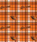 Oregon State University Beavers Fleece Fabric -Plaid