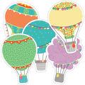Hot Air Balloon Cutout Assorted Gr Pk- 5, 36/pk, Set Of 3 Packs