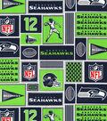 Seattle Seahawks Cotton Fabric -Block