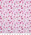 Valentine\u0027s Day Print Fabric 44\u0027\u0027-Pink with Hearts & Roses