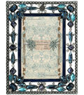 Mixed Company Frame 4x6-Blue Floral Jewels