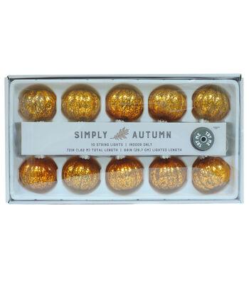 Simply Autumn 10 ct LED Pumpkin String Lights