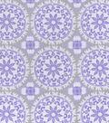 Nursery Flannel Fabric 42\u0022-Lilac Medallion