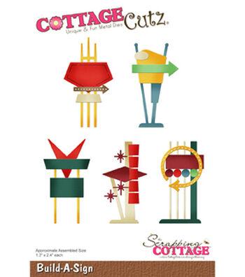 """CottageCutz Die-Build-A-Sign 1.3""""X2.4"""""""