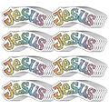 Carson Dellosa Dazzle Stickers Jesus, 84 Per Pack, 12 Packs